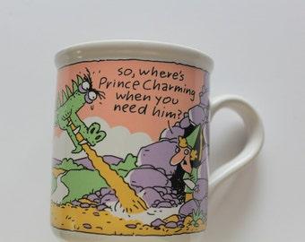 Vintage Where's Prince Charming Coffee Mug 1987