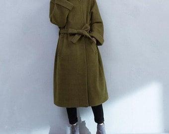 Winter loose long wool coat large size long overcoats