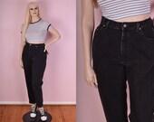 90s Black Mom Jeans/ 31.5 Waist/ 1990s/ High Waisted/ Denim