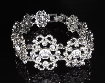 Bridal bracelet, Wedding bracelet, Wedding jewelry,bridal jewelry, bridesmaid bracelet, rhinestone bracelet, crystal bracelet, wedding gift
