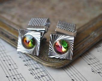 Vintage Soviet Russian metal cufflinks.