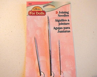Joining Needles For Dolls by Dritz Set of Three