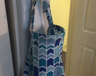 nursing cover breastfeeding cover up apron hider cotton blue fishtail