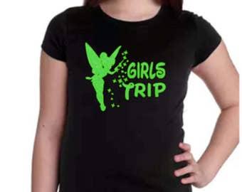 Girls Trip Shirt, Disney Group T Shirt, Tinkerbell Shirt, Kids Disney Shirt, Disney Shirt, Girls Disney Shirt, Girls Tinker Bell Shirt,Child