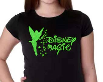 Disney Magic Shirt, Disney Group T Shirt, Tinkerbell Shirt, Kids Disney Shirt, Disney Shirt, Girls Disney Shirt, Girls Tinker Bell Shirt