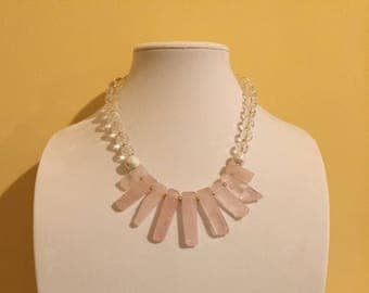Pretty in pink stone necklace
