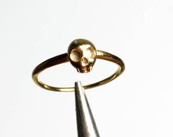 NEW Mini Skull Stackable Ring. Stacking Ring . Custom Jewelry