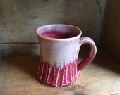 Coffee Tea Mug Cup in Cranberry Frost by village pottery PEI