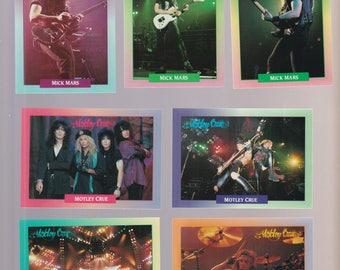 Lot of 13 Motley Crue trading cards Published 1991 Brockum Rock Cards