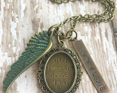 "Bronze Forever in my Heart Remembrance Necklace 30"" Personalized"