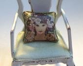12th scale cushion x 1 art nouveau MUCHA