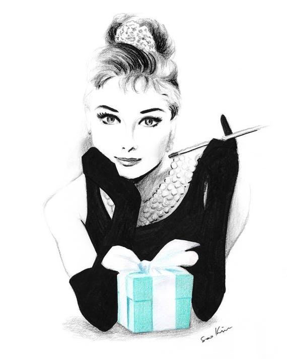 audrey hepburn breakfast at tiffany 39 s pencil and pen. Black Bedroom Furniture Sets. Home Design Ideas
