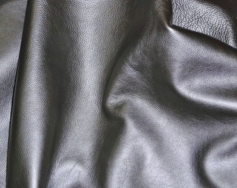 """Leather 8""""x10"""" Gun Metal PEARLIZED soft FAIRLY THICK Pebbled Cowhide 3.5-4 oz/1.4-1.6 mm PeggySueAlso™ E2970-01"""