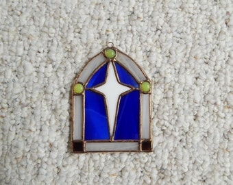 Stained Glass, Church Window Ornament, Christmas Ornament, Stained Glass ornament, Sun Catcher, Religious Ornament