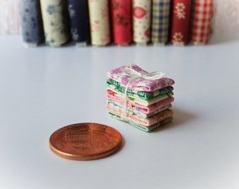 Miniature Fabric Bundle 1:12 scale, One inch scale (Bundle B)
