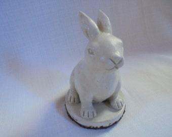 Handmade Stone Rabbit Paperweight, Decor, SHIPPING INCLUDED