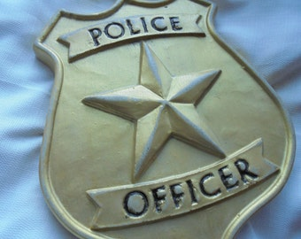 Policeman Wall Hanging, Handmade Stone, Shipping Included