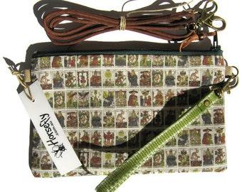 NEW Tarot card bag pouch wristlet handmade in Australia Horsefly