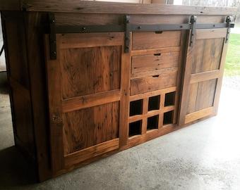 Reclaimed Chestnut Barn Door Buffet