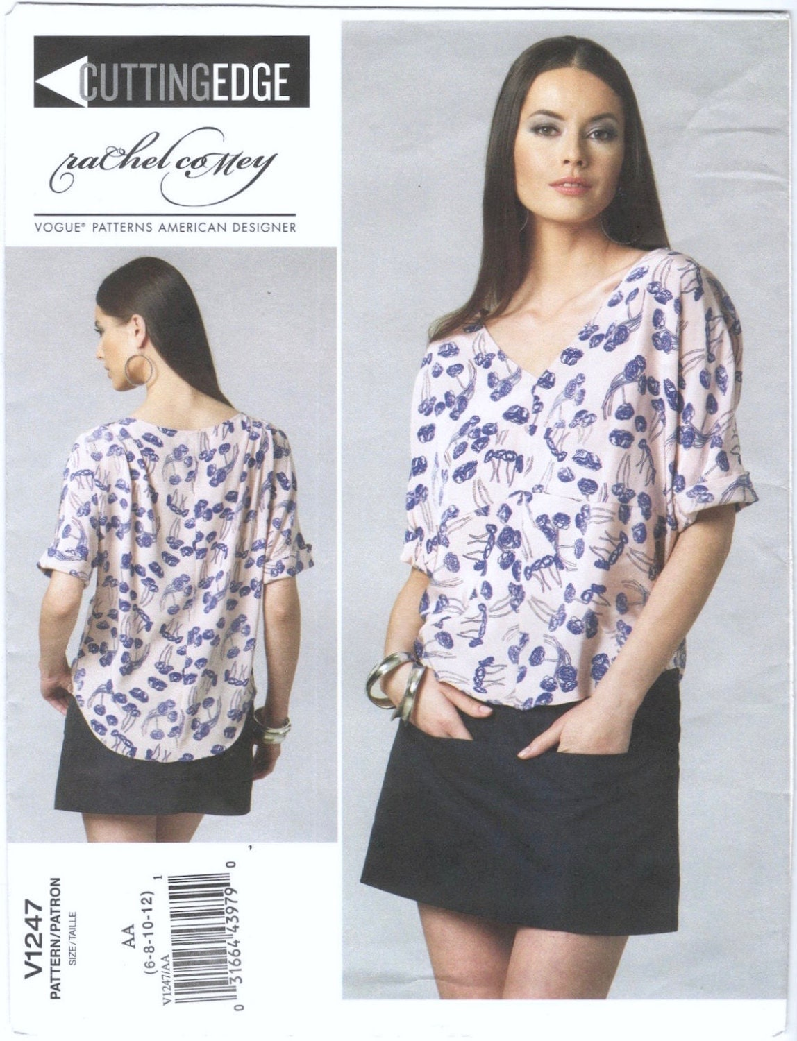 Rachel Comey Navigator top and skirt pattern Vogue 1247