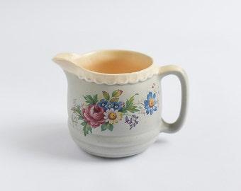 Vintage Creamer Milk Jar Sauce Jar Ceramic Earthenware BUCKFAST Made in England Devon Traditional English