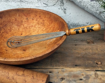 Antique Wire Whisk - Advertising Tik Wheat Paste - Vintage Utensil - Rochester NY