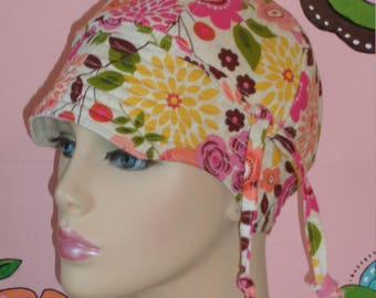 Cancer Hair Loss Hat Chemo Hat Made in the USA ( For Size Guide, see 'Item Details' below photos) MEDIUM
