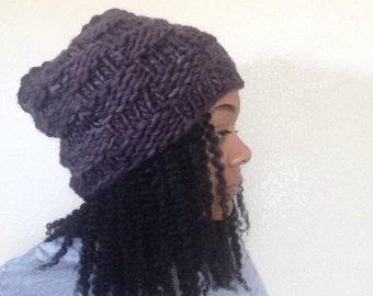Charcoal knit Hat