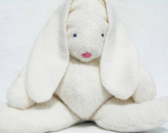Baby Bunny Rabbit, Organic Stuffed Animal and Matching Organic Blanket, GOTS Certified Cotton, Alpaca Stuffing