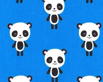 Pandas on Blue from Robert Kaufman's Urban Zoologie Collection by Ann Kelle