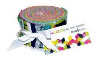 HOT DEAL - Jelly Roll - Technicolor Roll from Michael Millerby Emily Herrick - 2.5 inch x 44 inches - 25 pieces