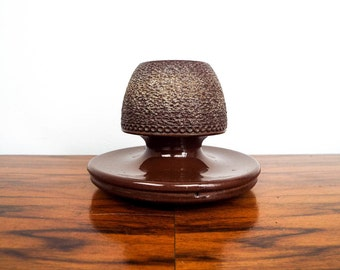 Vintage Ceramic Match Striker Holder, Stoneware Safe for Toothpicks, One of a Kind Housewarming Gift Ideas, Primitive Rustic Deco Presents