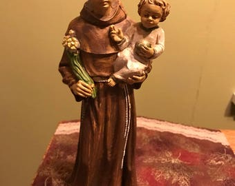 Vintage St Anthony with Child Figurine