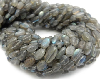 Labradorite Oval Freeform Beads - ONE (1) STRAND of Gorgeous Labradorite Beads (S104B8-02)