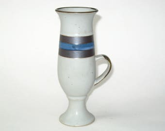 Vintage Otagiri Blue Horizon Irish Coffee Mug - Stoneware Footed Cup Japan