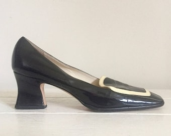 Prada / Spectator Shoes / 90s / Designer / Block Heel / Made in Italy