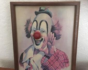 Vintage Clown picture music box