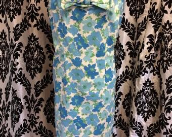 Adorable Blue Poppy Pencil Dress