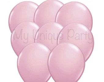Light Pink Balloons 11 inch Latex / Helium Quality / Photo Props Weddings Birthdays Bridal Shower Baby Shower