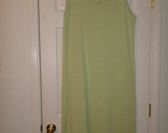 90s Maxi  Sweater Dress Lime Green 1X NWT Long 44 Lace Sleeveless Tunic