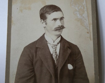 Antique Photograph, Young Man with Mustache