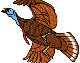 Turkey Machine Embroidery Design - Instant Download