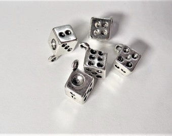 13mm*6mm Dice Charms, 5CT. Y19