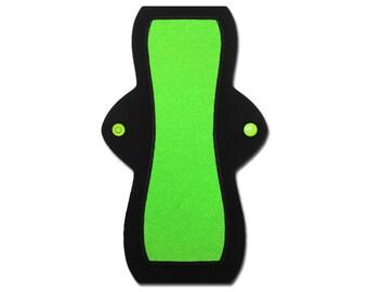 """Reusable Feminine Pad (10"""" Heavy - Green Jersey)"""