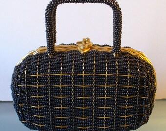 Vintage Walborg  Woven Beaded Handbag