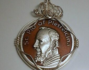 Saint Padre Pio Token Pendant
