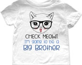 Check Meowt I'm going to be a Big Brother Birth pregnancy announcement Infant Baby One-piece, Infant Tee, Toddler, Youth Shirt