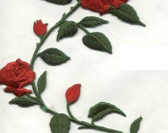 ROSES RED iron on patch applique