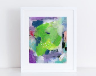Contemporary Art Print, Wall Art, Wall Decor, Abstract, colorful, bright, whimsical, print of original acrylic painting
