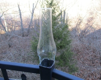 Vintage 3 x 12 Slim Clear Glass Chimney Shade